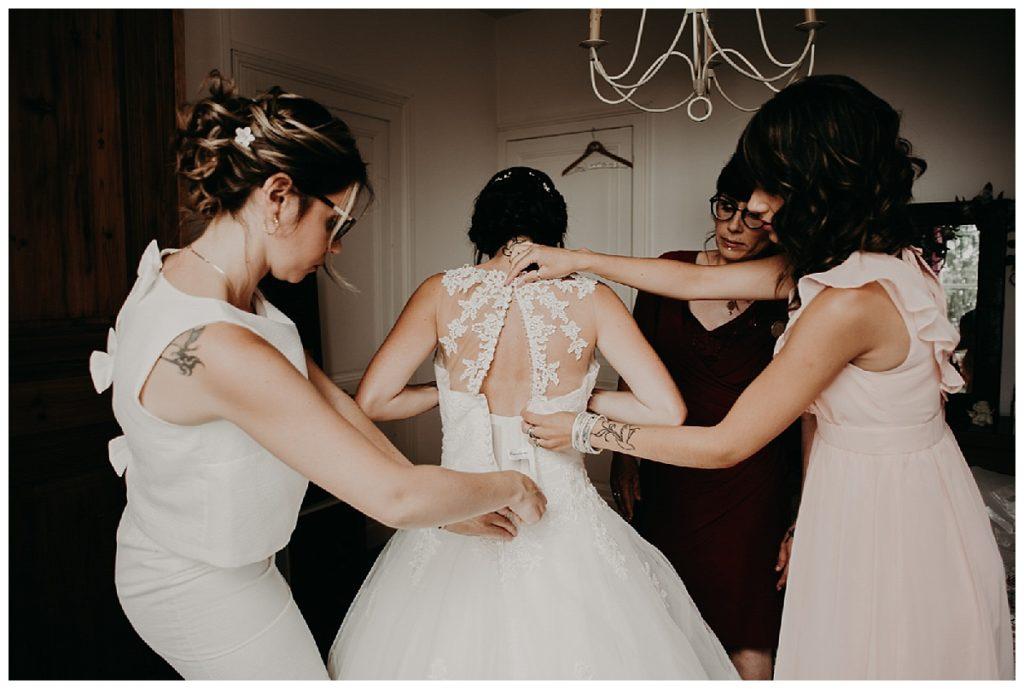 préparatifs de la mariée, robe de mariée, photographe mariage bordeaux