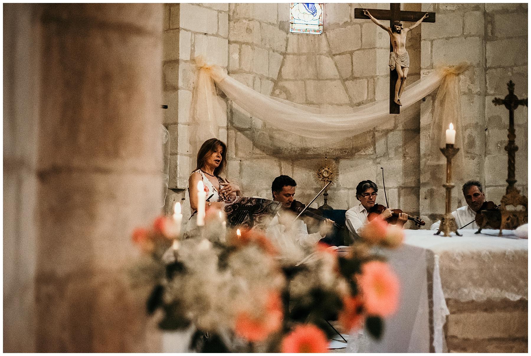 mariage église de monteton en lot et garonne, chant lyrique