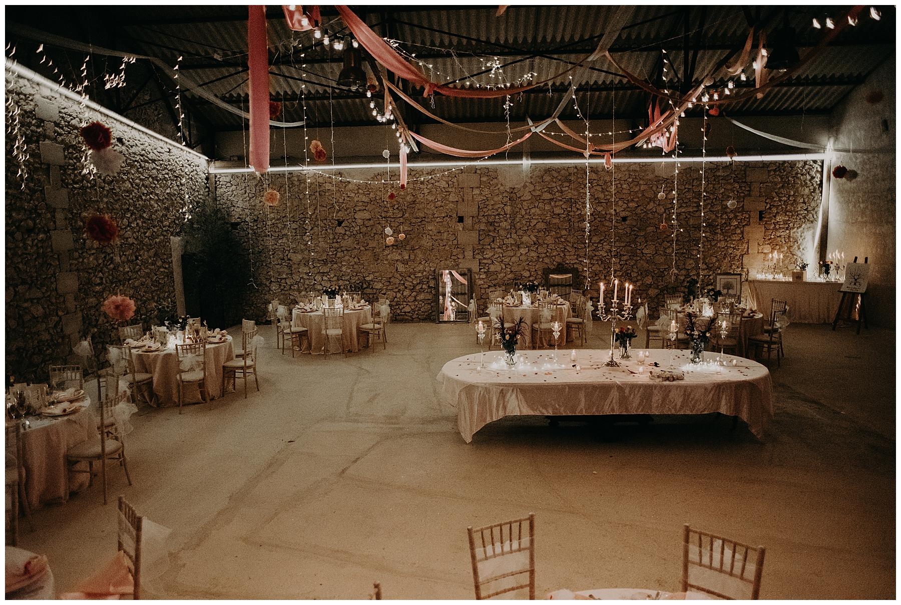 décoration mariage château Mondésir en Dordogne