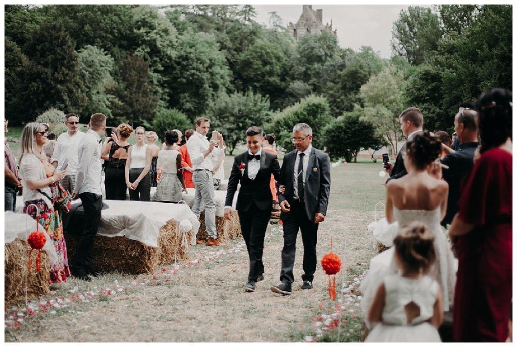 arrivée du marié, cérémonie laÏque, photographe mariage bordeaux