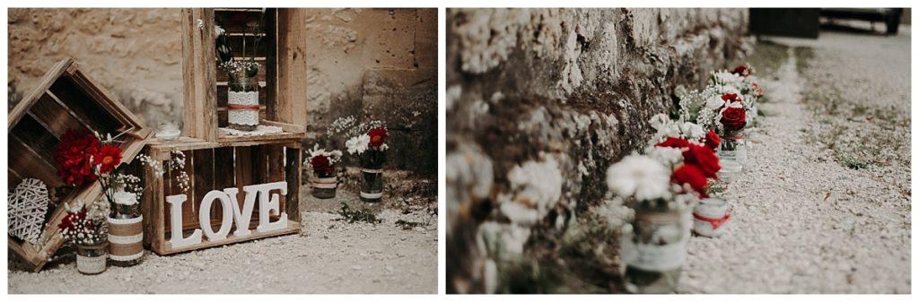 décoration mariage, mariage laÏque, fleurs, photographe mariage gironde