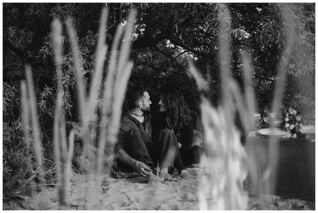 séance engagement couple feu