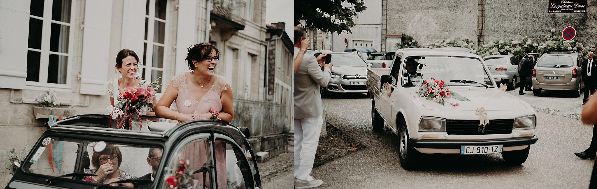 arrivée des mariés, mariage bordeaux