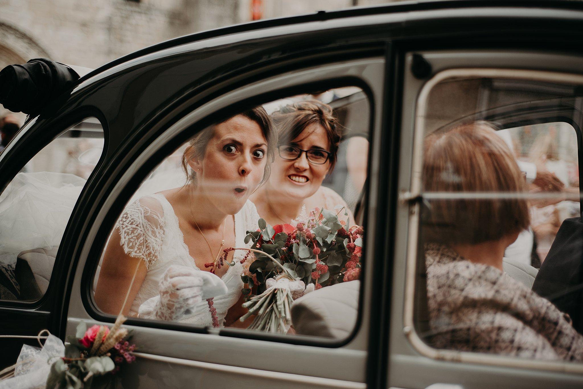 voiture de la mariée, mariage bordeaux