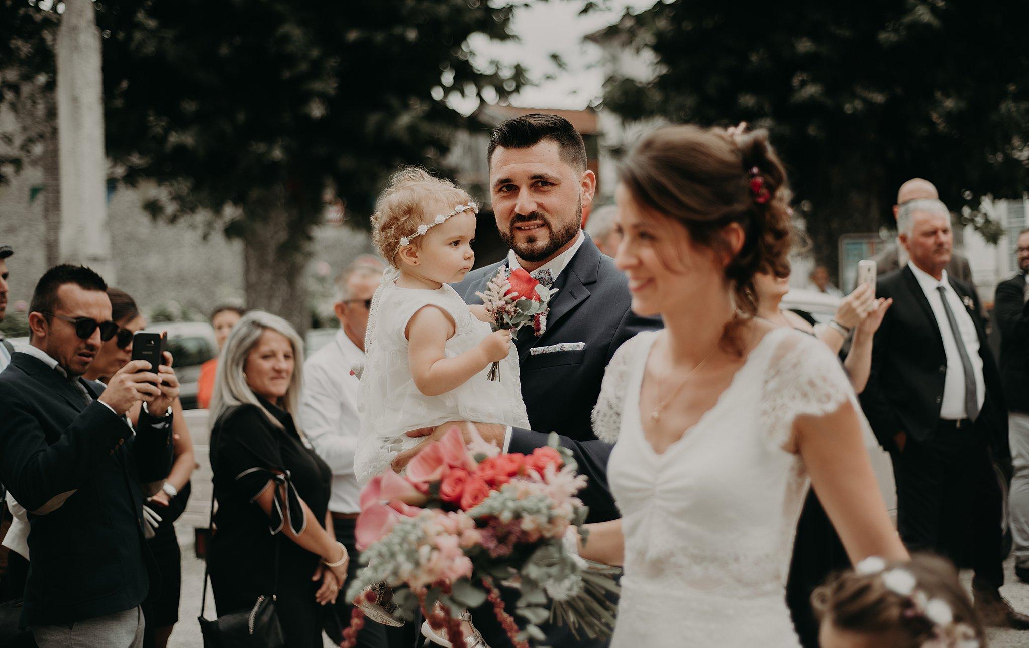 arrivée des mariés à l4eglise, mariage Bordeaux