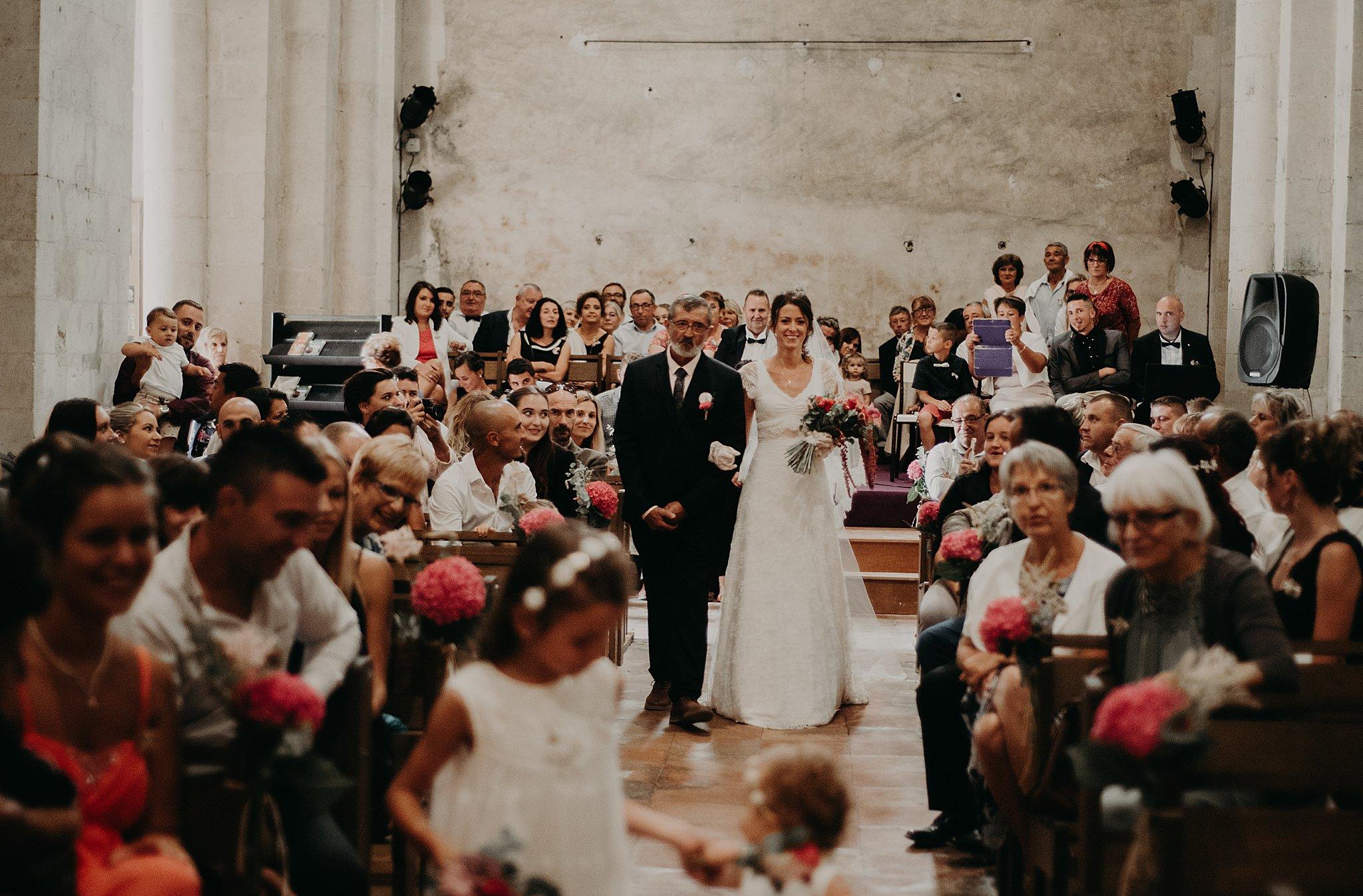 arrivée de la mariée à l'Eglise, mariage Bordeaux, photographe mariage bordeaux