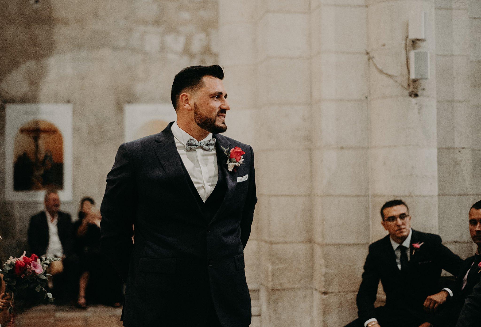 arrivée du marié à l'Eglise, mariage Bordeaux, photographe mariage bordeaux