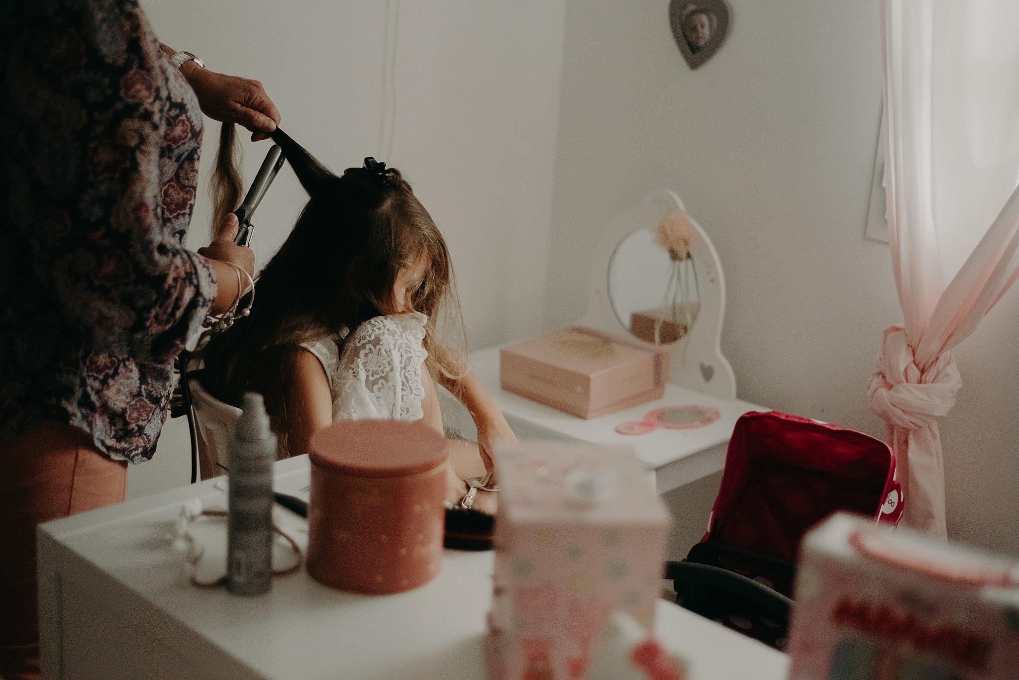 préparatifs de la fille de la mariée à Bordeaux