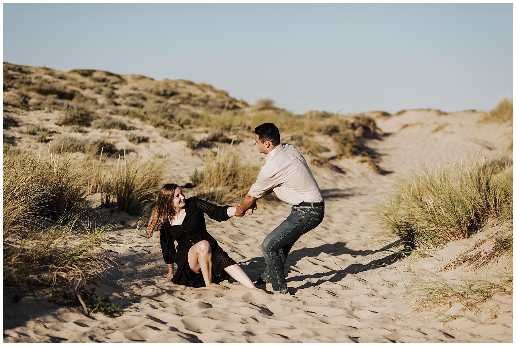photographe mariage bordeaux, séance couple à la plage