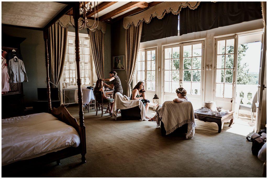 préparatifs de la mariée, château essendieras